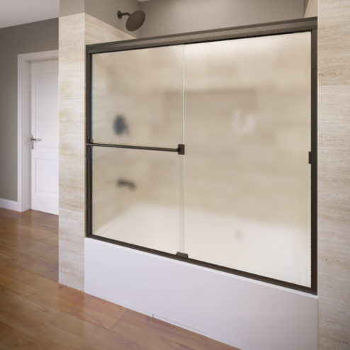 Classic Semi-Frameless 3/16-inch Glass Sliding Bathtub Door